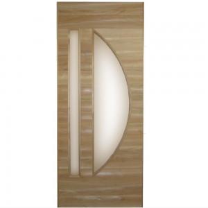 檜材の曲面額縁ドア